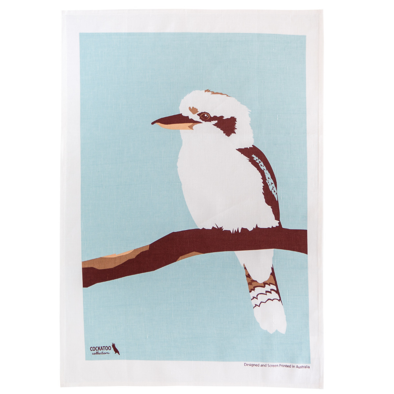 Kiki the Kookaburra tea towel by Cockatoo Collection / Australian souvenirs / Australiana Gift