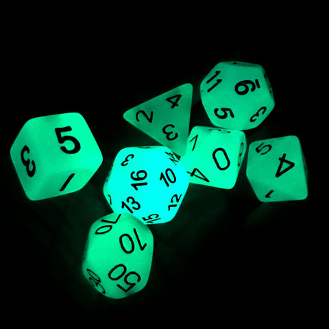 7-pc. Dice Set Glow in the Dark Blue Philippines