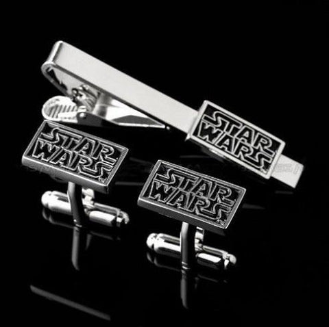 Star Wars Logo Cufflink and Tie Bar Set Philippines