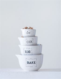 Stoneware Measuring Cups - Out of the Woodwork Designs