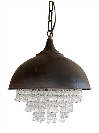 Industrial Crystal Chandelier - Vintage, Industrial, Bling - Out of the Woodwork Designs