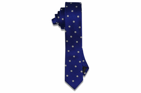 Bluefield Flowers Silk Skinny Tie