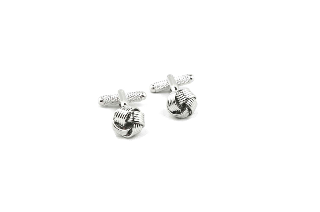 Knotted Metal Cufflinks
