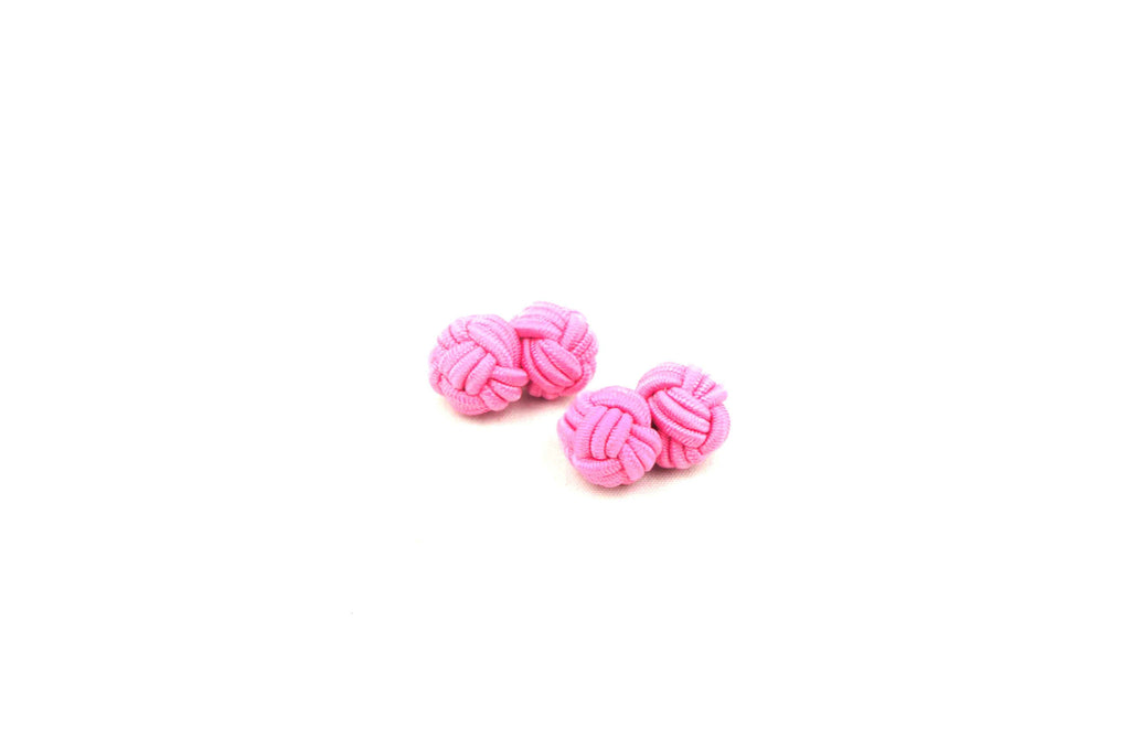 Pink Knotted Cufflinks