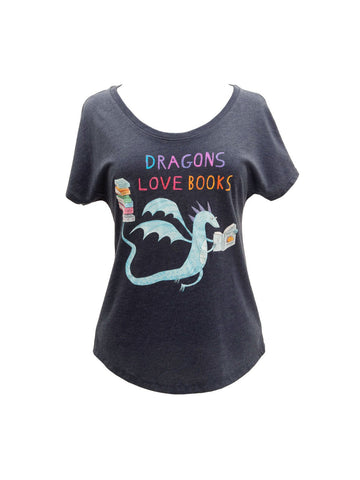 Dragons Love Books Women's Relaxed Fit T-Shirt