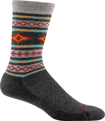 Darn Tough Santa Fe Crew Light Cushion Socks - Men's Charcoal X-Large