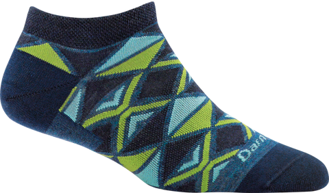 Darn Tough EL Sarape No Show Light Sock - Women's Denim Small