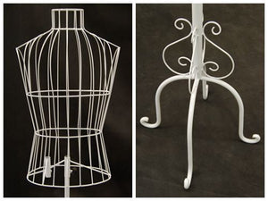 Male Wire Dress Form Mannequin: White