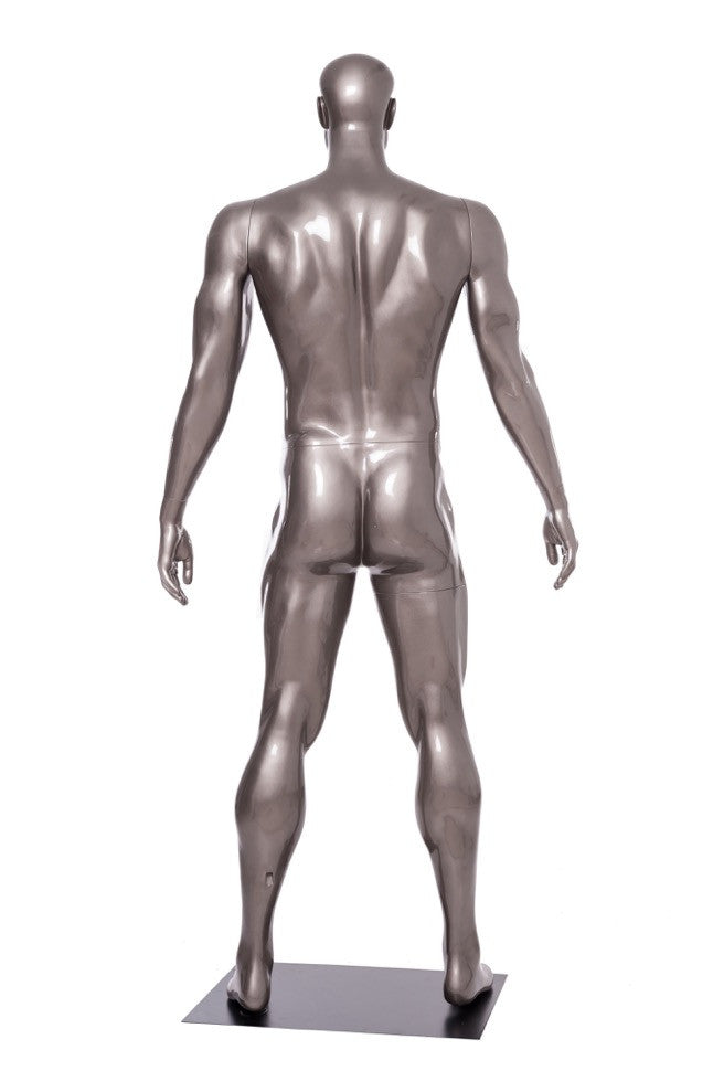 Football Playing Male Mannequin 1: Glossy Grey