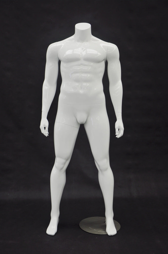 Big and Tall Mannequin: Economy Version White