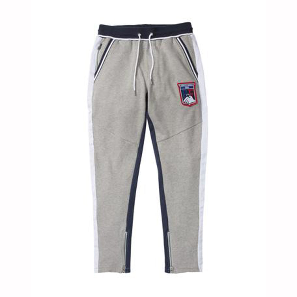 LONG TRACK PANT - HEATHER GREY