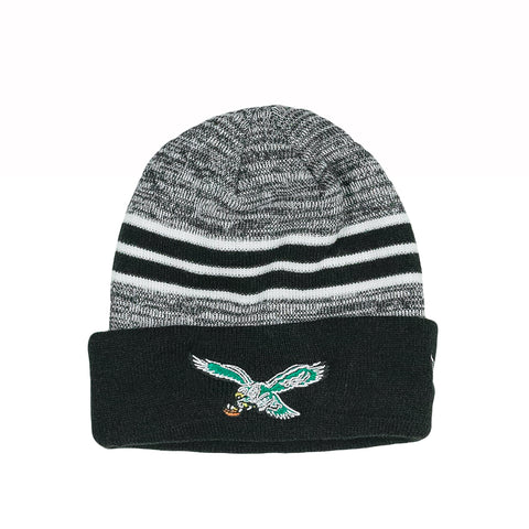 PHILADELPHIA EAGLES THROWBACK MARLED SKULLY - BLACK