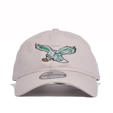 PHILADELPHIA EAGLES THROWBACK DAD HAT - STONE