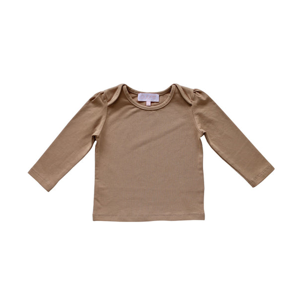 lily long sleeve tee - chai pima knit