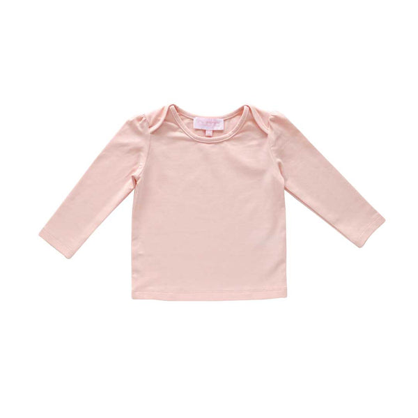 lily long sleeve tee - ballet pima knit