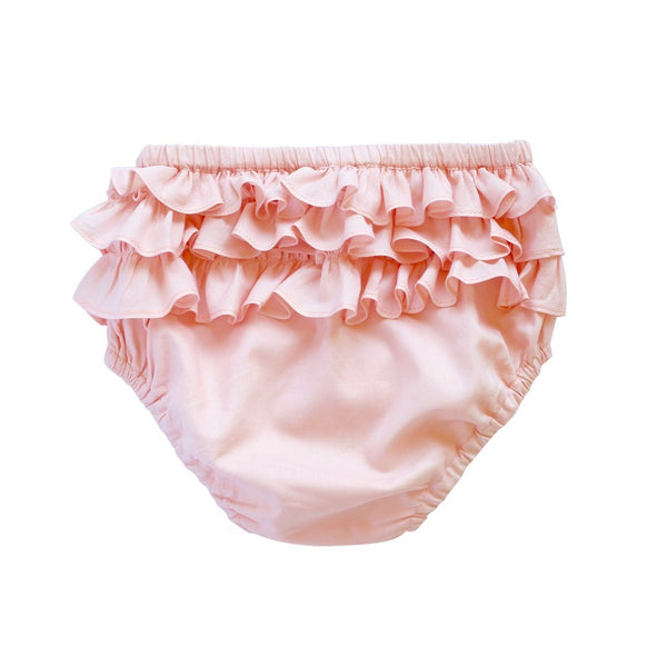 ruffle bloomer - ballet pink voile