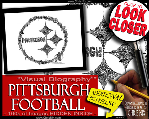 """Pittsburgh Football"" - print"