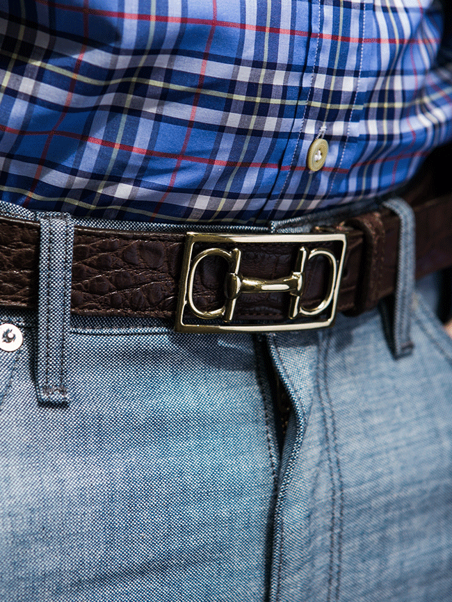 Martin Dingman Horse Bit Belt In Black