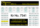 7341 Standard + Bristol / 6 Spline Screwdriver Set | Chapman MFG