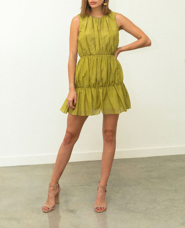 Malva Mini Dress Lime