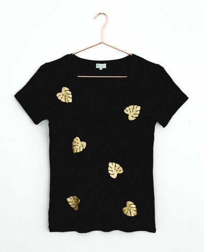 Mini Gold Palms Black