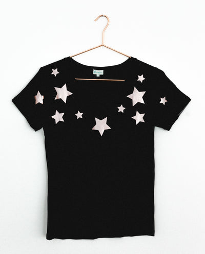 T-Shirt Copper Stars Black