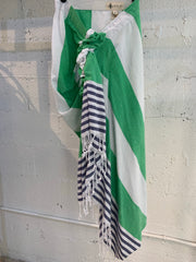Tulum Skirt Green and Blue Stripes