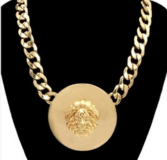 Lion of Judah Gold Medallion Necklace