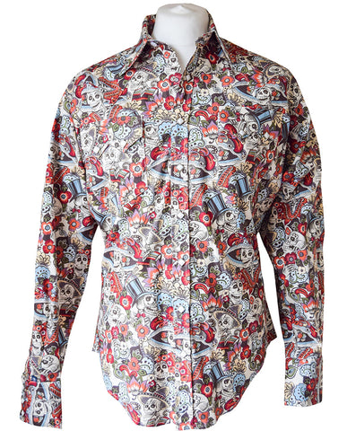Rockmount Day of the Dead Western Cowboy Shirt