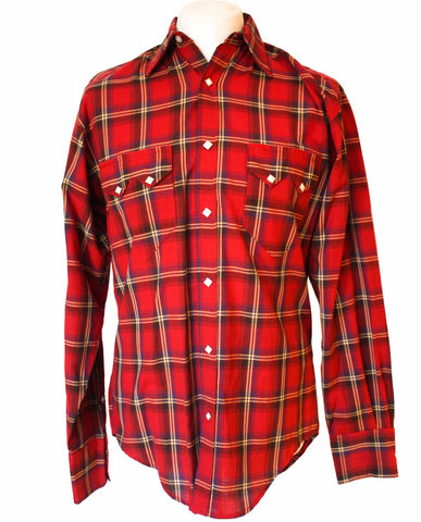 Rockmount Red Plaid/Checked Western Cowboy Shirt