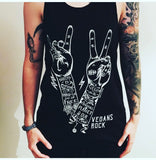 vegans rock vest, sold by ethical fashion brand Viva La Vegan.