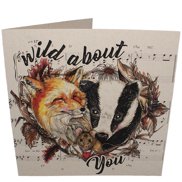 Wild About You greetings card, sold by ethical fashion brand Viva La Vegan.