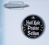 Hail Kale Praise Seitan fridge magnet, sold by ethical fashion brand Viva La Vegan.