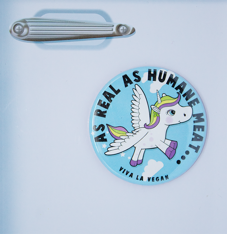 vegan magnet: as Real as humane meat., sold by ethical fashion brand Viva La Vegan.
