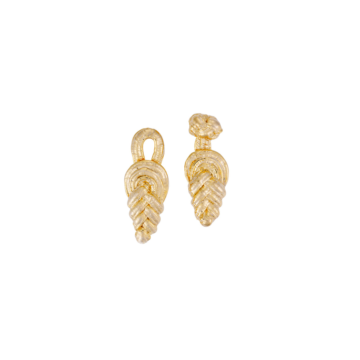 Knot earrings-gold-designed by alexandra koumba