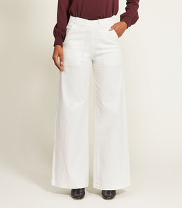White Long Sabrina Pants