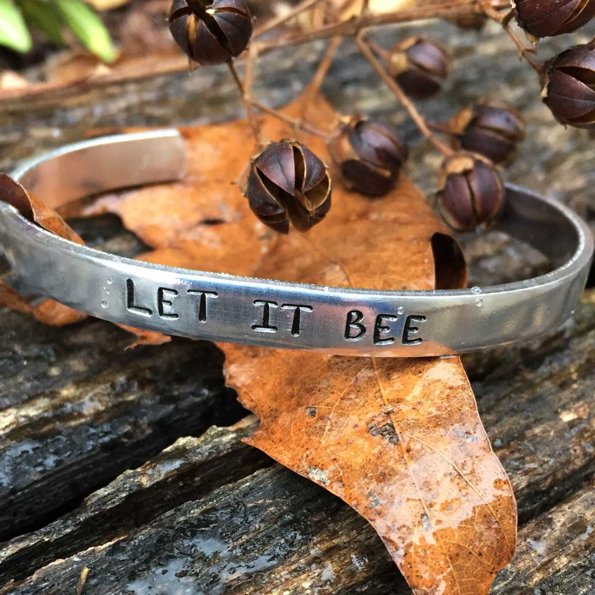 Let It Bee - Stamped Bracelet