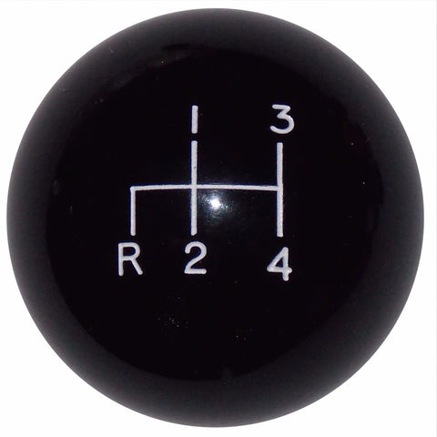 "4 speed RDL engraved shift knob BLACK: 3/8""-24 for 1947-1967 Chevy GMC truck"