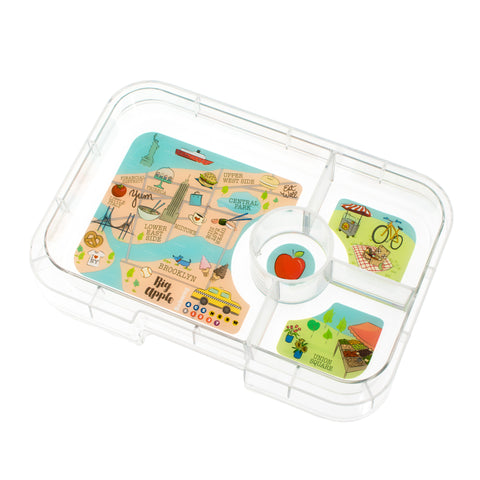 Yumbox Tapas Extra Tray (4 Compartments) - New York. MORE ARRIVING BY 16 JULY. PRE-ORDER NOW!