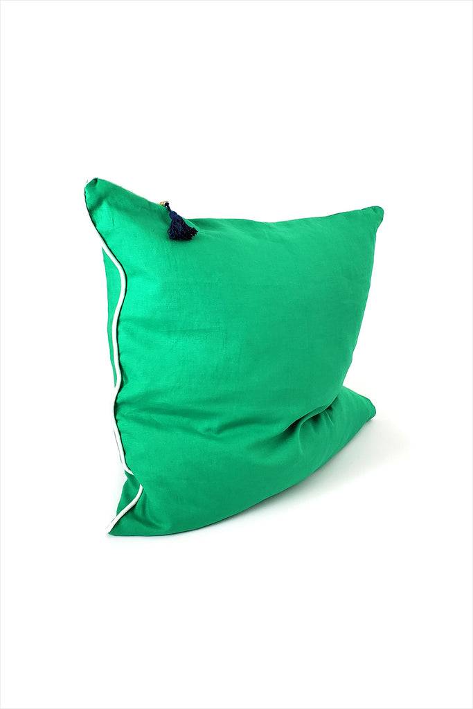 Pillow 26 x 26 Green With Piping