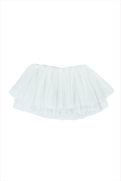 Tutu Tulle White And Silver
