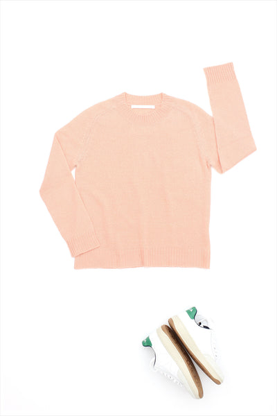 F&H Lightweight Cashmere Sweater Peach