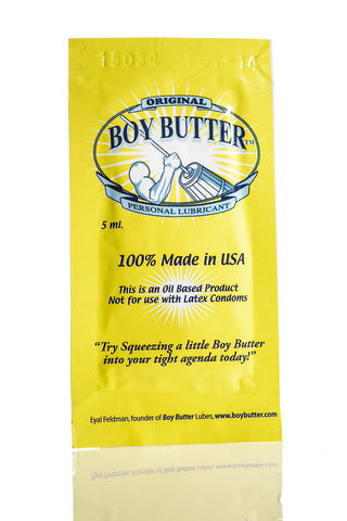 Boy Butter Original Formula Single Use Packet