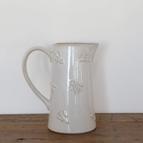 Abeille Large Cream Ceramic Jug