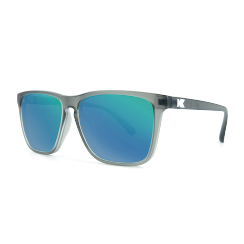 lenoor crown knockaround fast lanes sunglasses frosted grey green moonshine