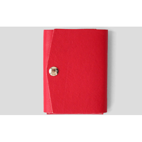 lenoor crown trio mini wallet red