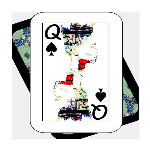 Play Your Hand...Queen Spade No. 1 Wrapped Canvas