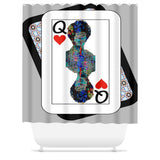 Play Your Hand...Queen Heart No. 2 Shower Curtain