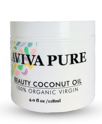 Aviva Pure Organic Coconut Oil for Skin, Coconut Oil for Face, Hair and Body