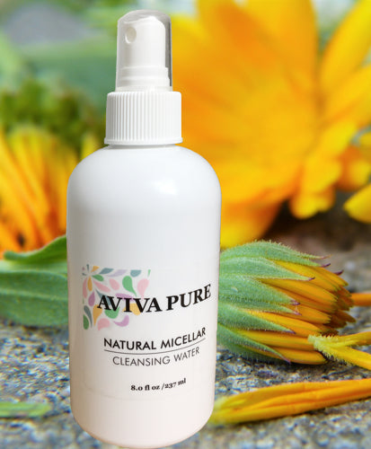 Aviva Pure- Natural Micellar Cleansing Water- Simple Makeup Remover 8oz